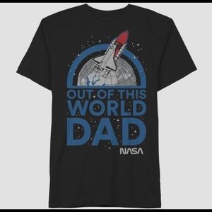"""Men's """"out of this world dad"""" T-shirt"""
